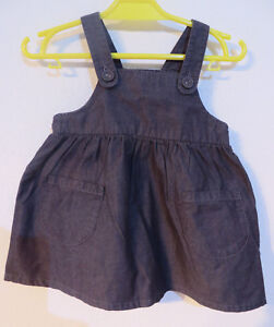 H&M Baby ° süsser Latzrock Gr. 68 schwarz Jeans Mädchen Kleidung Rock Jeansrock