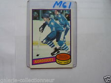 VINTAGE HOCKEY CARD O PEE CHEE MICHEL GOULET 1980 ROOKIE QUEBEC NORDIQUE
