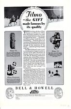 Vintage print ad 1928 Filmo The Gift made Famous 75 pocket camera 70 movie Bell