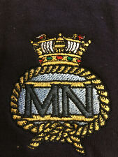 Rugby Shirt, Short Sleeves, Merchant Navy embroidered badge, Large, New, Cotton