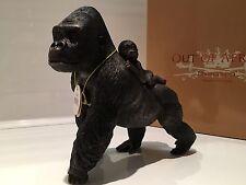 Gorilla And Baby Ape Ornament Figurine Figure Gift Present