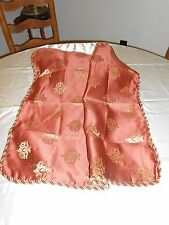 VALANCE-PILLOWSHAM-DRAPES IN COPPER COLOR - 100% POLYSTER