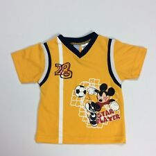 Disney Mickey Mouse Soccer Star Player 28 Theme Shirt Gold Infant 24M