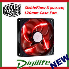 Cooler Master SickleFlow X 120mm Case Fan Red LED 3-pin 4-pin 12cm