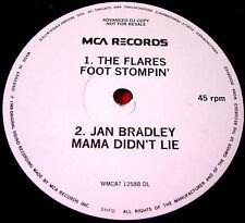 """The Flares Foot Stomping/Jan Bradley Mama Didn't Lie 12"""" PROMO Hairspray VINYL"""