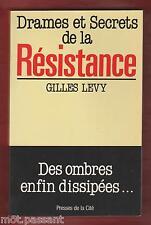 HISTOIRE. Drames et Secrets de la Résistance- Des ombres enfin dissipées /G Lévy