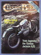 CLASSIC BIKE - January 1982 - 1939 Ariel 4F - 500cc Gilera Saturno Sanremo