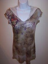 Code Vintage Junior's L Hooded Top Tunic NWT Retail Value $34.00
