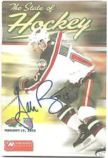 Andrew Brunette Minnesota Wild Signed Autographed State of Hockey Program