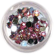Strasssteine Strass rund 4mm 50 Stk. Stone UV Gel Acryl Nail Art Rosa  #00567-01
