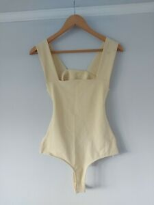 Free People Yellow Oh She's So Strappy Duo Bodysuit BNWT Size Small RRP $50