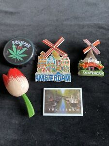 5 Amsterdam Job Lot Fridge Magnets