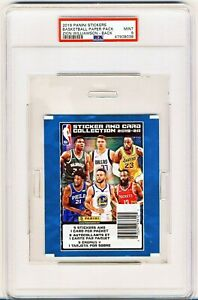 PSA 9 2019-20 Panini NBA Stickers Paper Pack ZION WILLIAMSON RC ROOKIE CARD BACK