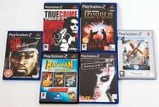PS2 PLAYSTATION 2 GAMES LOT TRUE CRIME STAR WARS RAYMAN MEDAL OF HONOR 50 CENT