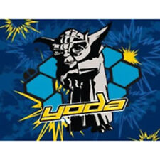 Star Wars Clone Wars Yoda Blast Fleece Blanket Throw Boys New Gift