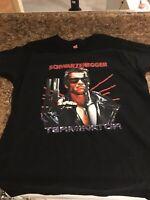 THE TERMINATOR Movie T-Shirt SIZE Extra Large Arnold Schwarzenegger