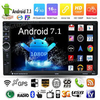 """7"""" Quad Core Android 7.1 3G WiFi Double 2DIN Autoradio MP5 GPS Bluetooth Stereo"""