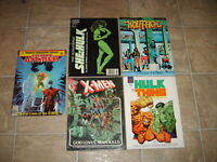 Marvel Graphic Novel She Hulk 18 Thing X Men God Loves Man Kills Wolf Pack Lot