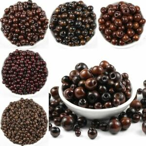 Brown Round Natural Wooden Beads Eco-Friendly wood Loose beads for Jewelry makin