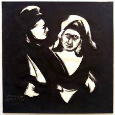 Avraham Goldberg: Jewish Women from Shtetl / Israeli Judaica Polish Modernism