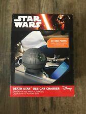 Star Wars Estrella De La Muerte puertos USB Coche Cargador USB Luces, Sonidos De Disney