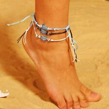 3pcs/set Boho Women Anklet Turtles Rope Foot Ankle Chain Bracelet Jewelry Party