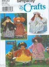 Sewing PATTERN Rag Doll 26″ & Clothing Dresses Petticoat Hats