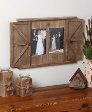 Multi Wood Barn Door Picture Frame 2 Openings Rustic Wall Photo Frame Distressed