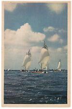 VELA Cartolina anni 60 FP sail voile afvaart navegación Segeln boat ship regatta