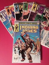 Lot of 7 The Further Adventures of Indiana Jones from Marvel! Including issue#1!
