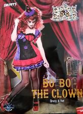 Adult Ladies Bo Bo The Clown Costume Halloween Fancy Dress Horror Small 8-10 NEW