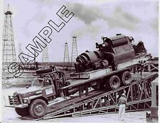MACK TRUCKS B-81 OILFIELD RIG UP TRUCK 8x10 B&W Glossy Photo, Carl O'Neal, Texas