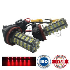 2X CANBUS ROSSO H8 60 SMD LAMPADINE LED FENDINEBBIA PER BMW 3 5 7 SERIES X1