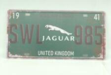 Metal Jaguar Logo License Plate