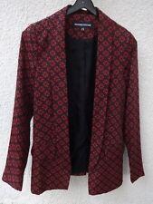 f9da0c160a83 Veste WAREHOUSE imprimé Rouge Bordeaux Style 70  T  34 36 Comme neuve!