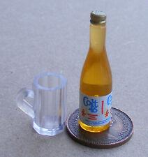 1:12 SCALA Gin Rosa etichetta su una bottiglia di resina tumdee Casa delle Bambole Accessorio DRINK