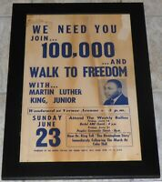 MARTIN LUTHER KING DETROIT MICHIGAN WALK TO FREEDOM 1963 ORIGINAL POSTER