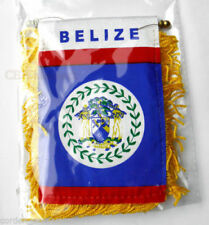 Belize MINI BANNER FLAG GREAT FOR CAR & HOME WINDOW MIRROR HANGING