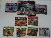 LEGO NINJAGO Polybag Bundle 9 x set 30085 30421 30087 30293 30609030086 etc