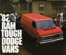 1982 Dodge RAM VAN Brochure w/ Color Chart: B150,B250,B350,B-150,250,350,MAXIVAN