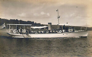 "Yacht ""Ioneta,"" Moosehead Lake ME Real Photo Postcard"