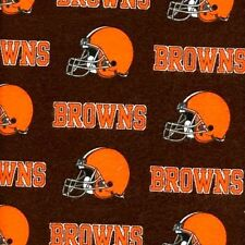 Flannel NFL Football Cleveland Browns OOP 18x29 Cotton Fabric Fat Quarter