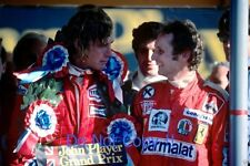 James Hunt & Niki Lauda F1 Portrait British Grand Prix 1976 Photograph