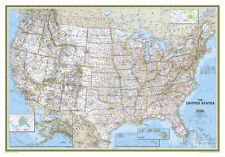National Geographic - United States Classic Map Laminated Poster, 44x30
