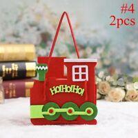 1/2pcs Snowman Elk Gift Box Candy Bag Santa Claus Handbags Present Pocket