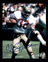 OJ Simpson BAS BECKETT Coa Hand Signed 8x10 Autograph Photo