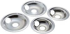 "New listing Drip Pans Reflector Bowl Chrome 4pc Set 6"" and 8"" Frigidaire Whirlpool Ge Range"