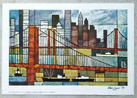 "Listed Artist: KEN LAW (1918-1988) ""Skyline"" HAND SIGNED Lithograph Print 1970's"
