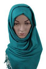 vert émeraude Neuf UNI châle écharpe étole enveloppant hijab haute qualité 100%