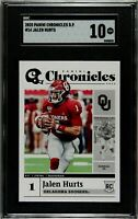 2020 Panini Chronicles Draft Picks #14 Jalen Hurts Rookie SGC 9.5 Comp PSA BGS